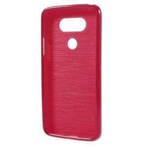 Lesklý gelový obal na mobil LG G5 - červený - 2