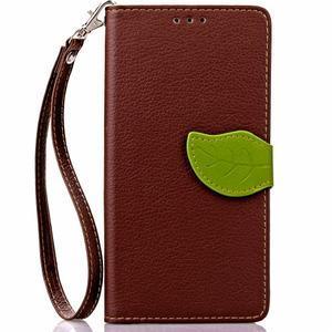 Leaf PU kožené pouzdro na LG G5 - hnědé - 2