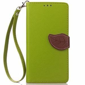 Leaf PU kožené pouzdro na LG G5 - zelené - 2