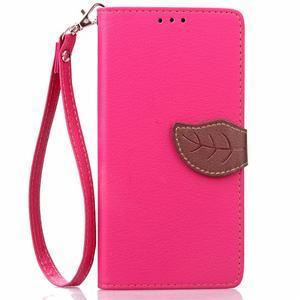 Leaf PU kožené pouzdro na LG G5 - rose - 2