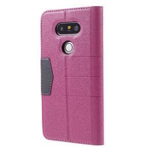 Klopové peneženko pouzdro na LG G5 - rose - 2