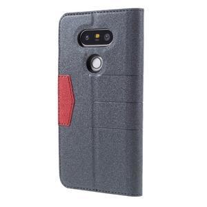 Klopové peneženkové pouzdro na LG G5 - šedé - 2