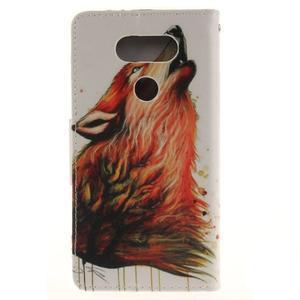 Obrázkové koženkové pouzdro na LG G5 - vlk - 2