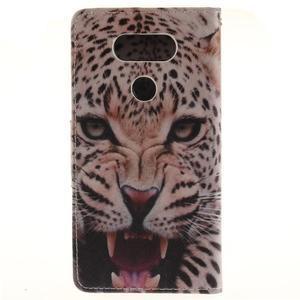Obrázkové koženkové pouzdro na LG G5 - leopard - 2