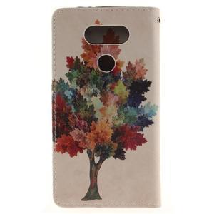Obrázkové koženkové pouzdro na LG G5 - barevný strom - 2