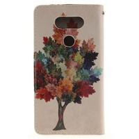 Obrázkové koženkové pouzdro na LG G5 - barevný strom - 2/7