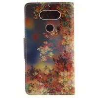 Obrázkové koženkové pouzdro na LG G5 - malované listí - 2/7