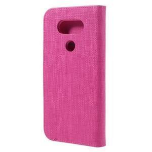 Cloth koženkové peněženkové pouzdro na LG G5 - rose - 2
