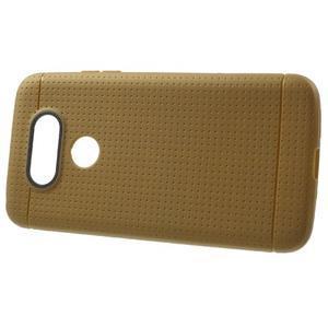 Rubby gelový kryt na LG G5 - hnědý - 2