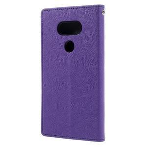 Goos stylové PU kožené pouzdro na LG G5 - fialové - 2
