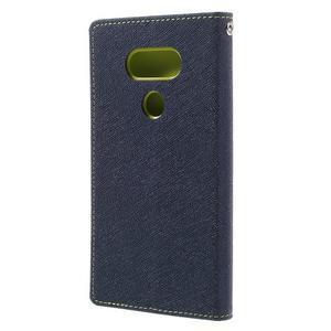 Goos stylové PU kožené pouzdro na LG G5 - modré - 2