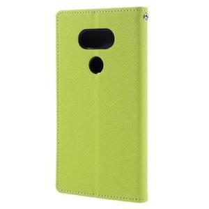 Goos stylové PU kožené pouzdro na LG G5 - zelené - 2