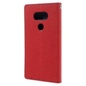 Goos stylové PU kožené pouzdro na LG G5 - červené - 2