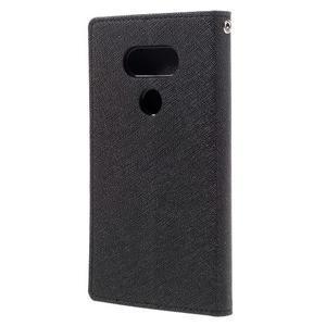 Goos stylové PU kožené pouzdro na LG G5 - černé - 2