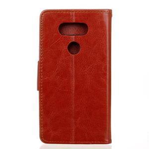 Lees peněženkové pouzdro na LG G5 - hnědé - 2