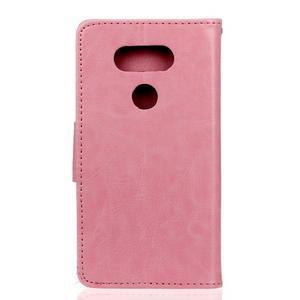 Lees peněženkové pouzdro na LG G5 - růžové - 2
