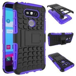 Outdoor odolný obal na mobil LG G5 - fialový - 2