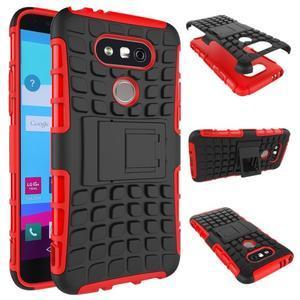 Outdoor odolný obal na mobil LG G5 - červený - 2