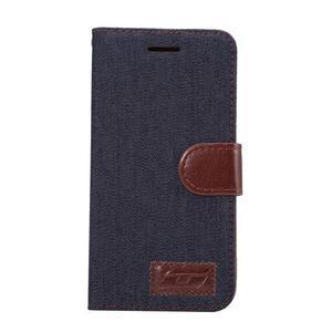 Jeans peněženkové pouzdro na LG G5 - černomodré - 2