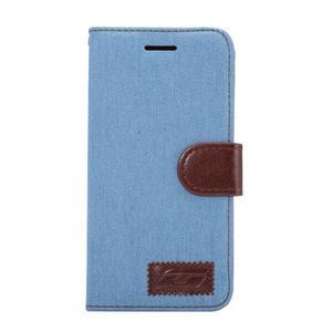 Jeans peněženkové pouzdro na LG G5 - světlemodré - 2