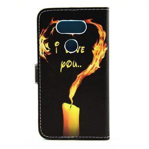 Pouzdro na mobil LG G5 - ohnivá láska - 2