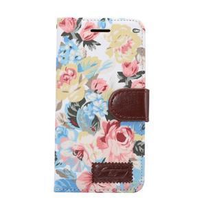 Květinové pouzdro na mobil LG G5 - bílý vzor - 2