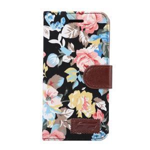 Květinové pouzdro na mobil LG G5 - černý vzor - 2