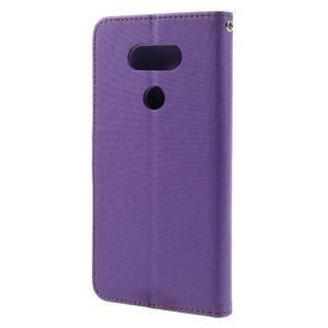 Diary PU kožené pouzdro na mobil LG G5 - fialové - 2