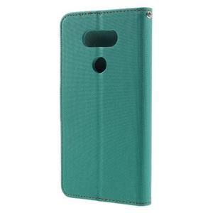 Diary PU kožené pouzdro na mobil LG G5 - zelené - 2