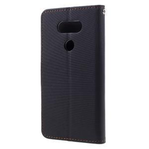 Diary PU kožené pouzdro na mobil LG G5 - černé - 2