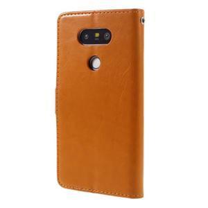 Wax peněženkové pouzdro na LG G5 - oranžové - 2