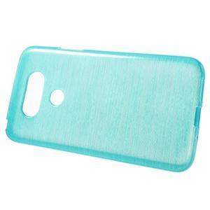 Hladký gelový obal s broušeným vzorem na LG G5 - tyrkysový - 2