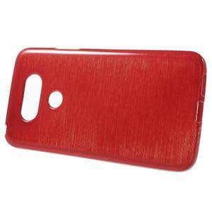 Hladký gelový obal s broušeným vzorem na LG G5 - červený - 2