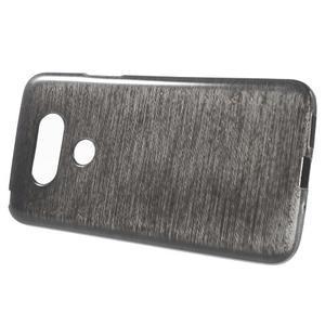 Hladký gelový obal s broušeným vzorem na LG G5 - černý - 2
