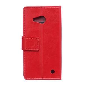 GX koženkové pouzdro na mobil Microsoft Lumia 550 - červené - 2
