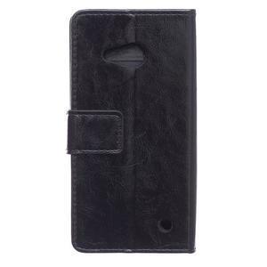 GX koženkové pouzdro na mobil Microsoft Lumia 550 - černé - 2
