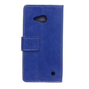 GX koženkové pouzdro na mobil Microsoft Lumia 550 - modré - 2