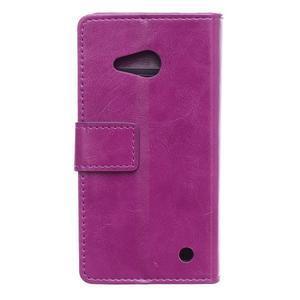 GX koženkové pouzdro na mobil Microsoft Lumia 550 - fialové - 2