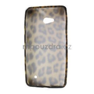 Gelový obal na Microsoft Lumia 640 - leopard - 2