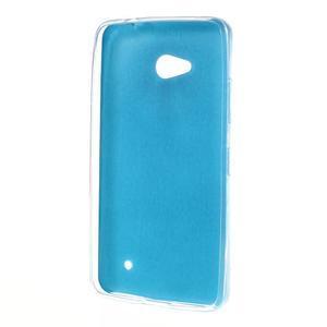 Gelový kryt s imitací kůže pro Microsoft Lumia 640 - modrý - 2