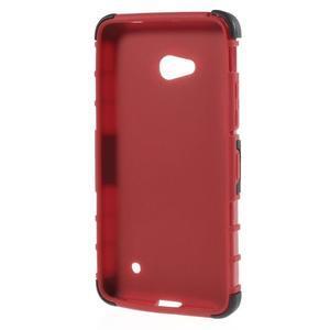 Vysoce odolný kryt se stojánkem na Microsoft Lumia 640 - červený - 2