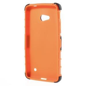 Vysoce odolný kryt se stojánkem na Microsoft Lumia 640 - oranžový - 2
