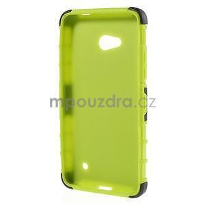 Vysoce odolný kryt se stojánkem na Microsoft Lumia 640 - zelený - 2