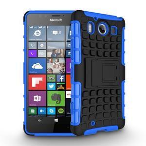 Outdoor odolný kryt na mobil Microsoft Lumia 950 - modrý - 2