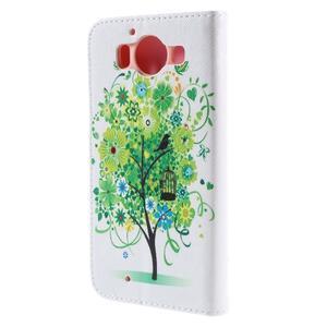 Peněženkové pouzdro na Microsoft Lumia 950 - zelený strom - 2