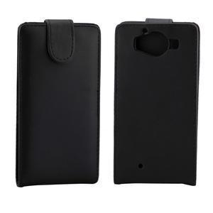Flipové pouzdro na mobil Microsoft Lumia 950 - černé - 2