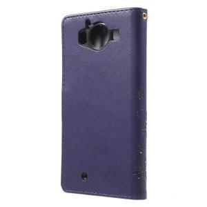 Buttefly PU kožené pouzdro na Microsoft Lumia 950 - fialové - 2