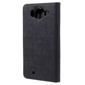 Cloth peněženkové pouzdro na mobil Microsoft Lumia 950 - černé - 2