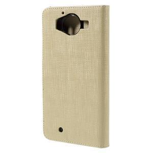 Cloth peněženkové pouzdro na mobil Microsoft Lumia 950 - champagne - 2