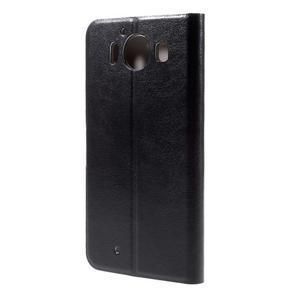 Horse PU kožené pouzdro na mobil Microsoft Lumia 950 - černé - 2